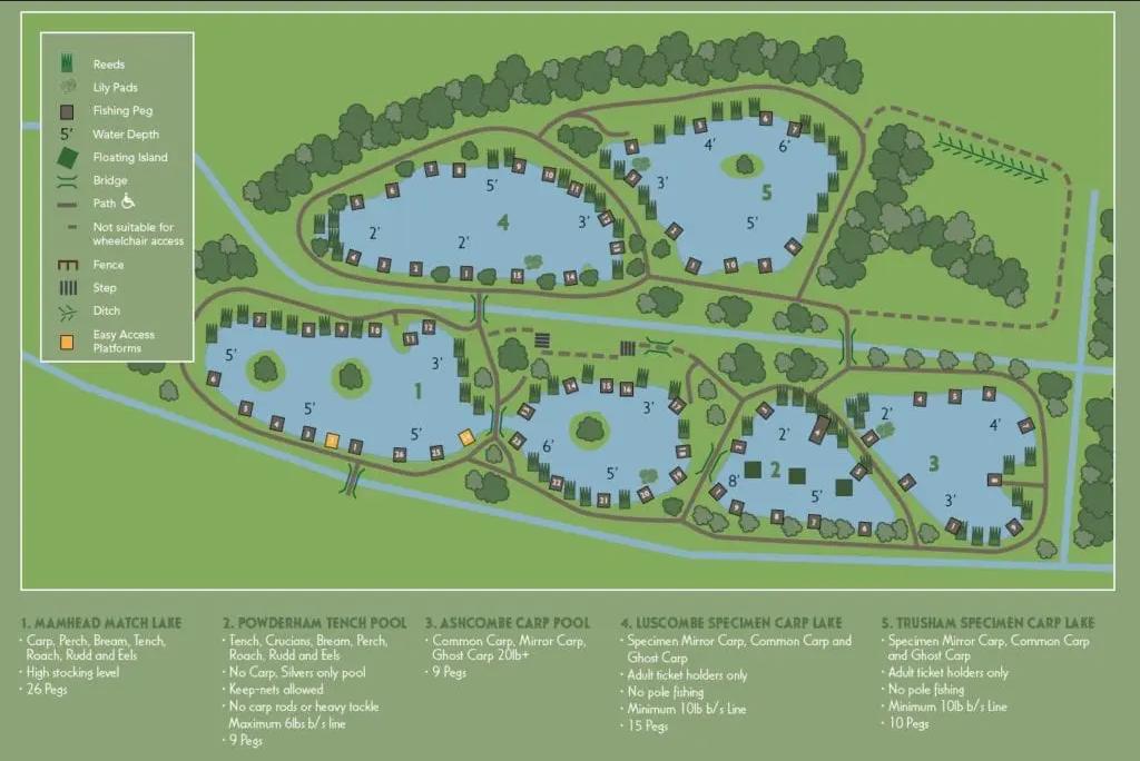 Cofton Lakes Map