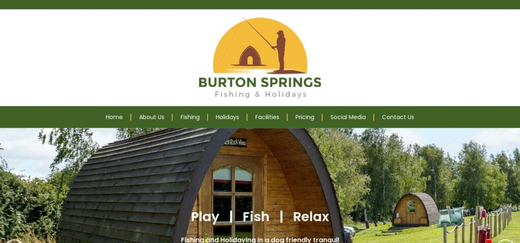 Burton Springs Fishing Holidays and Camping in Somerset