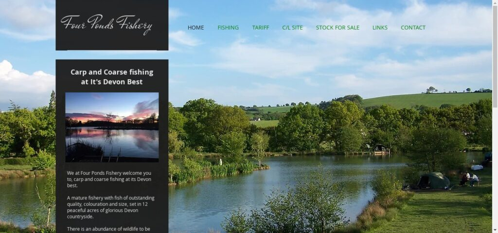 Four Ponds Fishery - Carp and Coarse Fishing