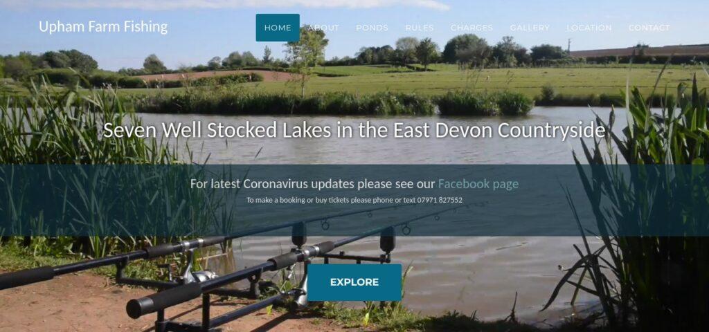 Upham Farm Fishing Website